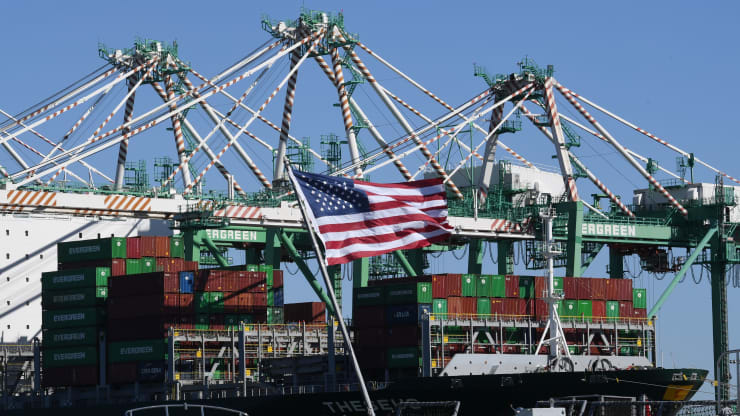 US trade deficit narrows less than expected to $54 billion